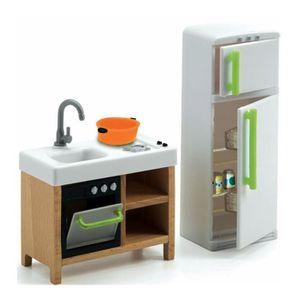 MAISON POUPÉE Mobilier pour maison de poupées : Cuisine compacte