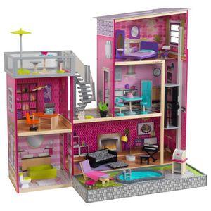 MAISON POUPÉE Maison de poupée uptown en bois 120,6x64x117cm