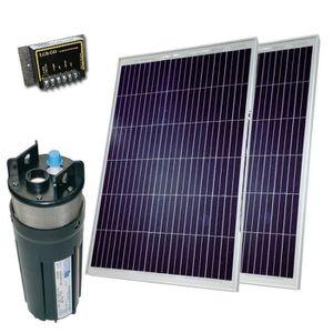 POMPE ARROSAGE Kit pompe solaire 2x80W avec pompe Shurflo 9325, 4