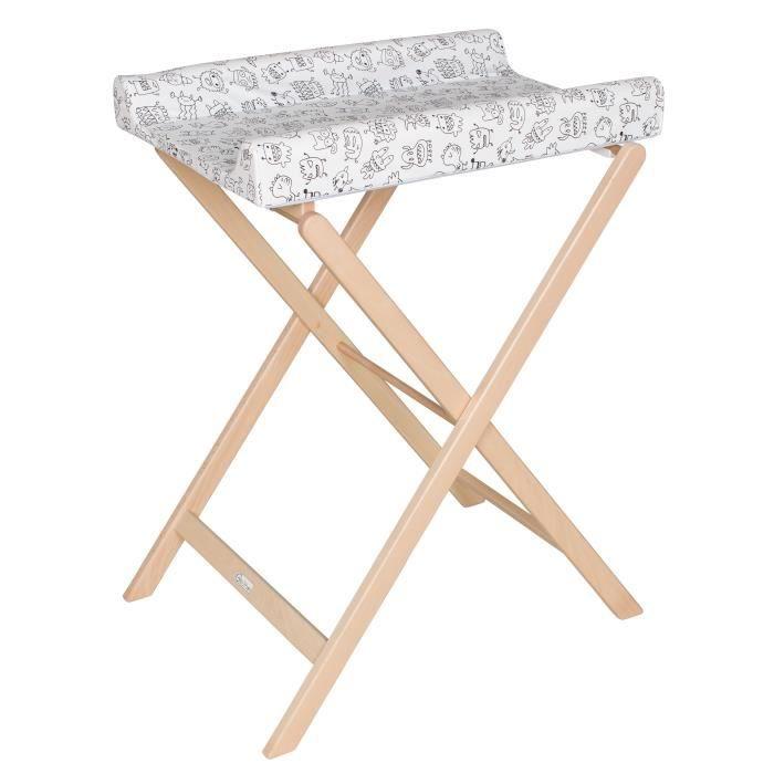 GEUTHER Table à langer pliable TRIXI naturelle