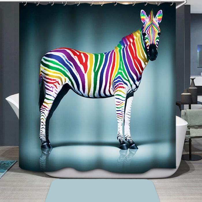 Z bre color impression rideau de douche accessoire salle de bain tanche achat vente rideau - Rideau de douche plus de 2 metres ...