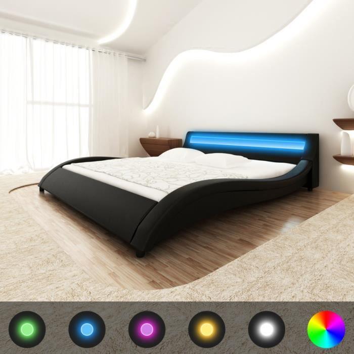 lit avec eclairage integre achat vente lit avec. Black Bedroom Furniture Sets. Home Design Ideas