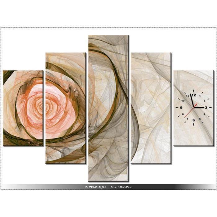 excellent x cm rose horloge murale tableau moderne with horloge poser moderne. Black Bedroom Furniture Sets. Home Design Ideas