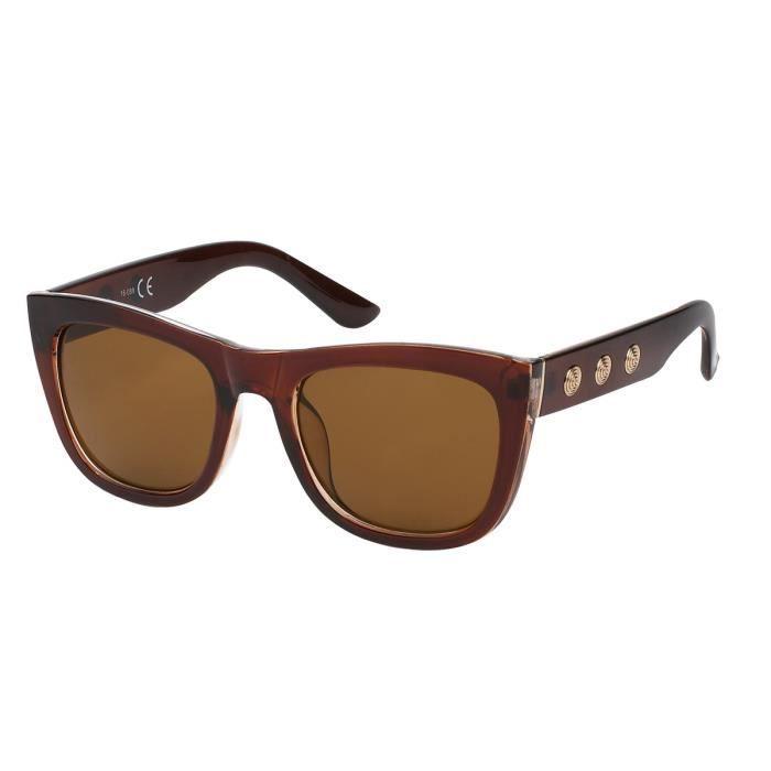 Lunette fashion papillon-7833 marron, verre marron