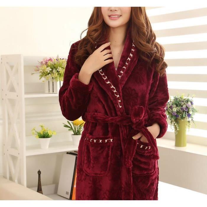 Robe de chambre polaire femme mauve liser achat vente robe de chambre cdiscount - Robe de chambre femme courtelle ...