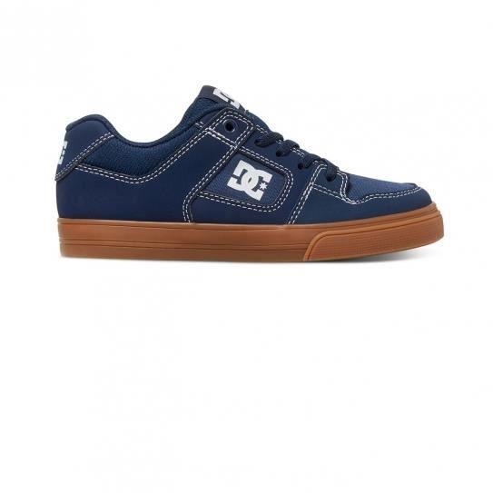 Chaussures Pure Elastic Navy/Gum Jr - DC Shoes