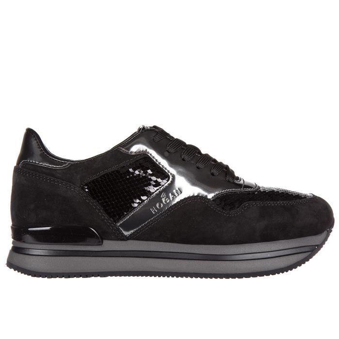 Chaussures baskets sneakers femme en daim h222 sportivo xl allacciato tessuto Hogan CvOXDSCAs7