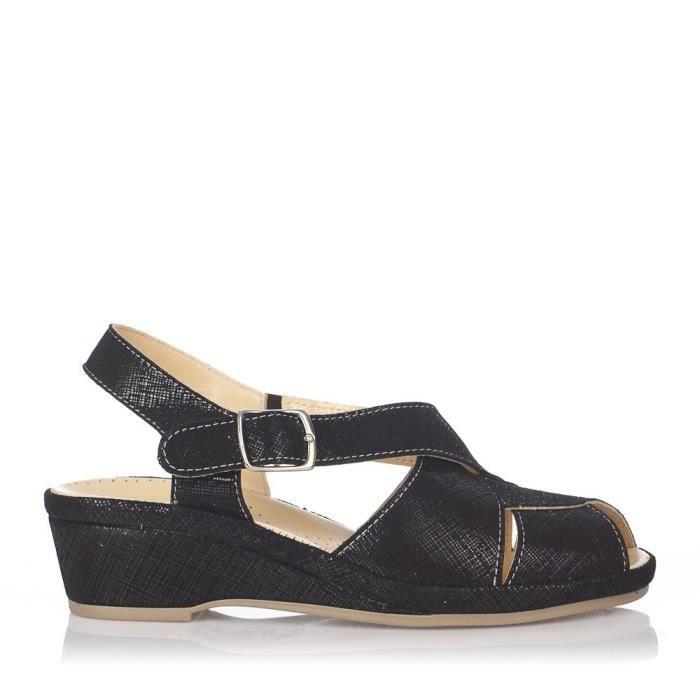 Chaussures nu-pieds femme Mauve PIEL Noir - Color - Noir