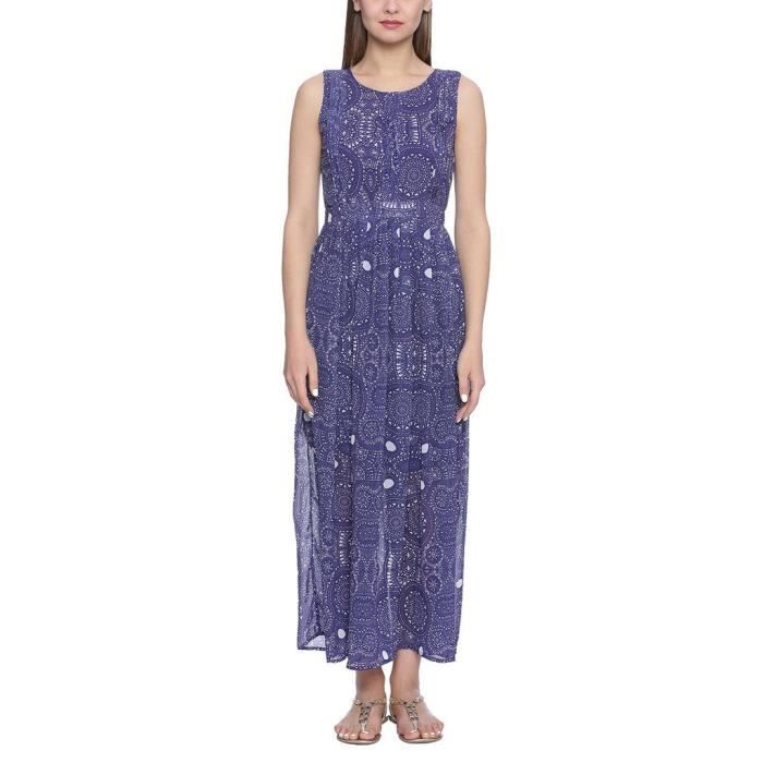 Bleu Georgette Robes DXCWG Taille-34