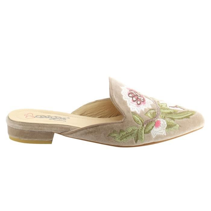 Dbdk Ag88 Chic Backless Slip On broderie Mule Flats HK4C9 Taille-38 1-2