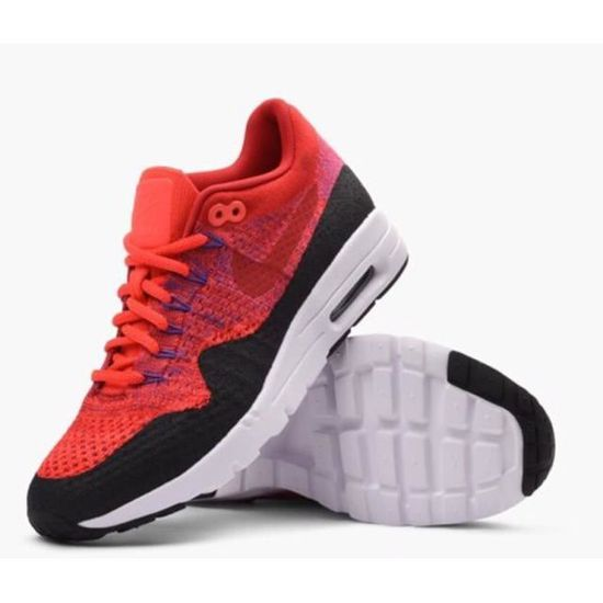 online store 1987a 180c6 NIKE AIR MAX 1 ULTRA FLYKNIT Basket mode femme rouge Rouge rouge - Achat   Vente basket - Cdiscount