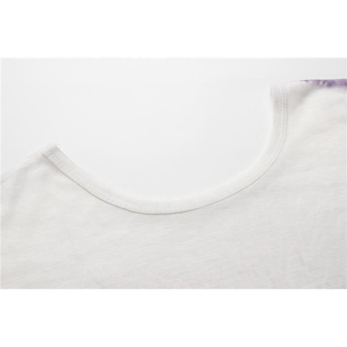 Chemisier 5174 Des Géométrique T Vrac Imprimer Courtes Animal shirt À Manches cou O Femmes En EOnn6a5Bwq