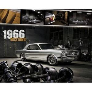 5659f124180 AFFICHE - POSTER FORD SHELBY - Mustang 1966 - 40x50cm - AFFICHE - P