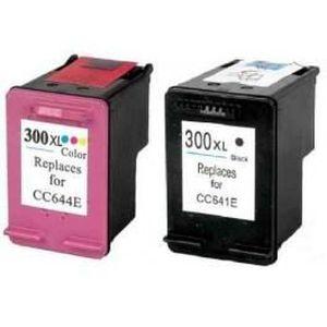 CARTOUCHE IMPRIMANTE Pack 2 cartouches compatibles HP 300XL - 1BK-1CL -