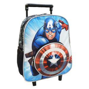 CARTABLE Sac à roulettes trolley maternelle Avengers Captai