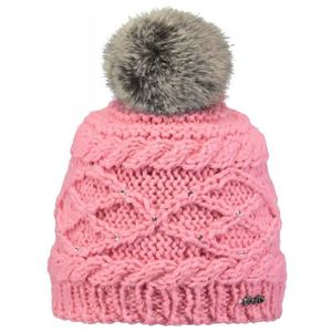 BARTS - Bonnet rose à pompon imitation fourrure enfant fille du 4 au 12 ans  modèle claire barts 28369dcd6fc