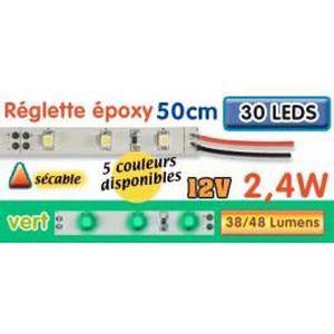 AMPOULE - LED Réglette LED époxy 50 cm 2W4 12V vert