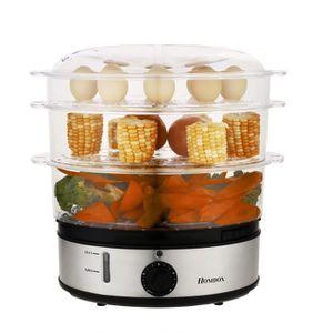 CUIT VAPEUR Ménage cuisinière à vapeur électrique Trois couche