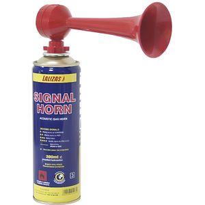 SIGNAL SONORE - VISUEL Corne de brume à gaz Modele 380 ml Couleur ROUGE
