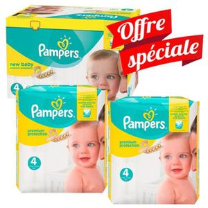 Pack Jumeaux 672 Couches Pampers Premium Protection - New Baby ... 80fb3d09a44