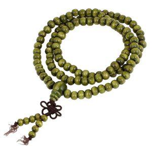 BRACELET - GOURMETTE 6mm Perles de priere Bouddhiste Chapelet en Bois d