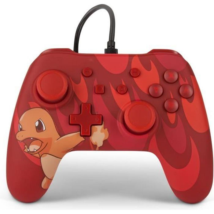 Power a manette nintendo switch wired controller total salameche