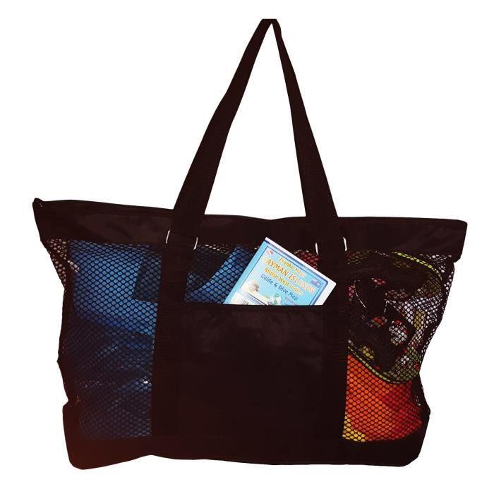 Super Grand sac fourre-tout Mesh Beach - 24 X 15 X 6 - peuvent être personnalisés H1ITX