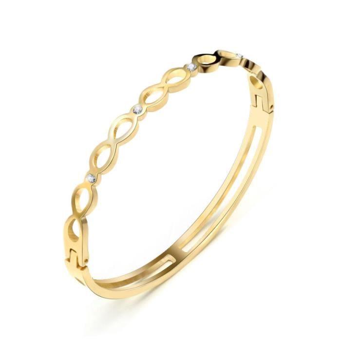 De Luxe Femme Mode Bracelet Marque Sexy Creux Diamants 35ARjqL4