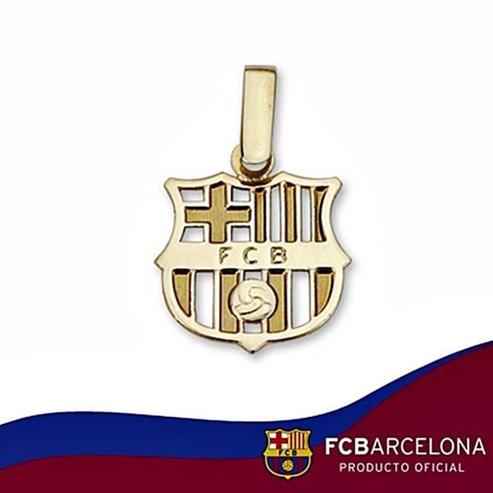 Pendentif écusson F.C. Barcelona or massif 9k petit trempé
