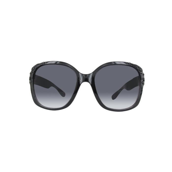 Lunettes de soleil femme GUESS GF0298 SHINY BLACK - GRADIENT SMOKE