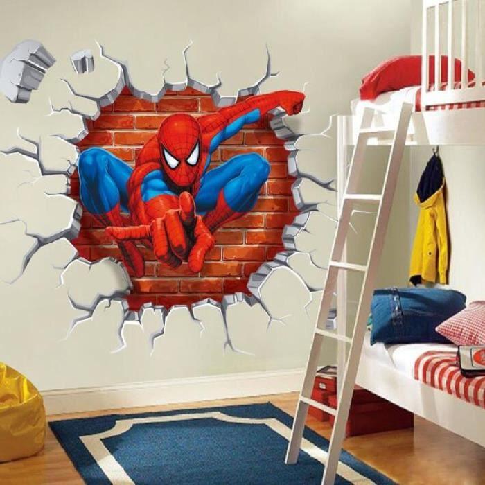 Fond d\'écran 3D Spide Man Decal Stickers muraux enfants Décoration ...