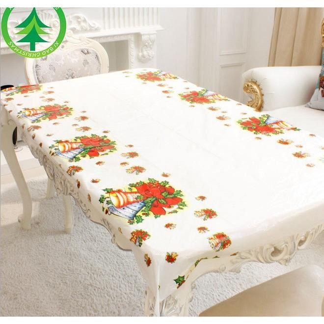 3pcs nappe en plastique nappes no l jetables achat vente chemin de table cdiscount. Black Bedroom Furniture Sets. Home Design Ideas