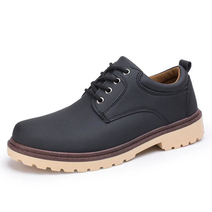 MOCASSIN Chaussure Chaussure Homme Retro Cuir Chaussures...