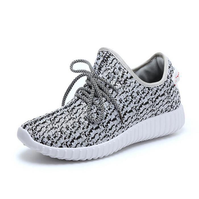 casual mode chaussure homme voler tissage baske gris. Black Bedroom Furniture Sets. Home Design Ideas