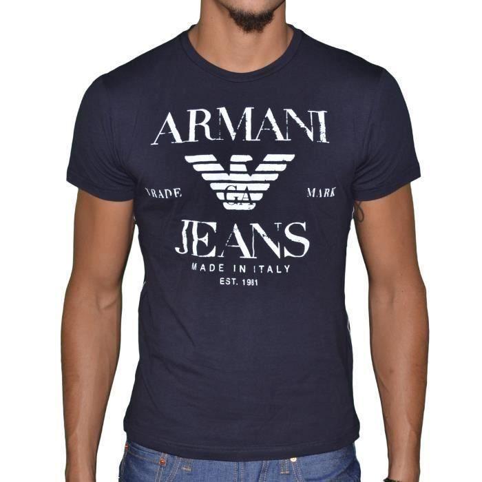 313338784844 Armani Jeans-Tee Shirt Armani Jeans manches courtes pour hommes U6H22 Bleu  marine