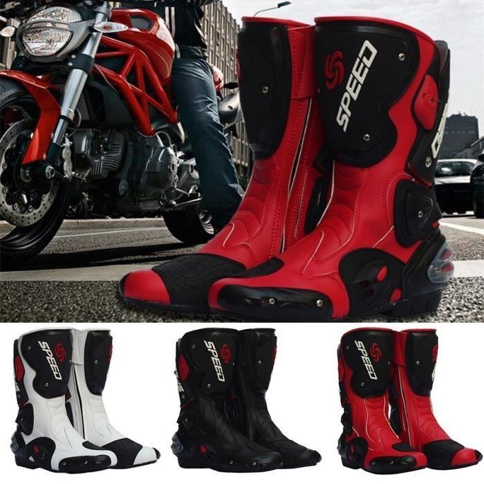 Basket BJMTX001White45-WV Blanc 45 de moto imperméables à l'eau les Dirt Bike Motocross Chauss.Adulte Course de motos hors route de