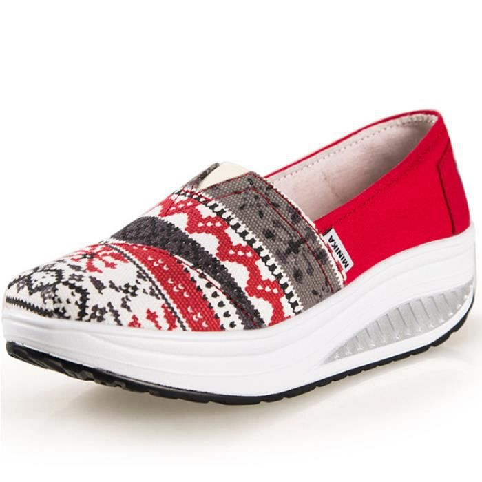 Mode Femme Moccasins Confortable Loafer La Supérieure Chaussures Femme Chaussure Qualité Respirant De D'ascenseur Occasionnelles AHTttx