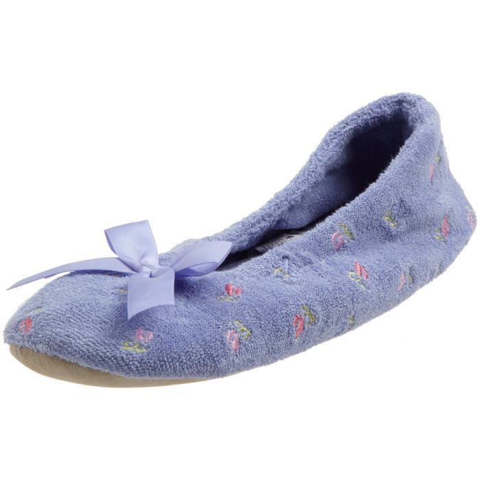 Embroidered Terry Ballerina Slipper MDWL3 Taille-M
