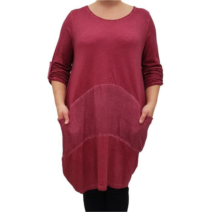 Womens Plus Size Dress Boho Hippie Quirky 2V8139 Taille-44