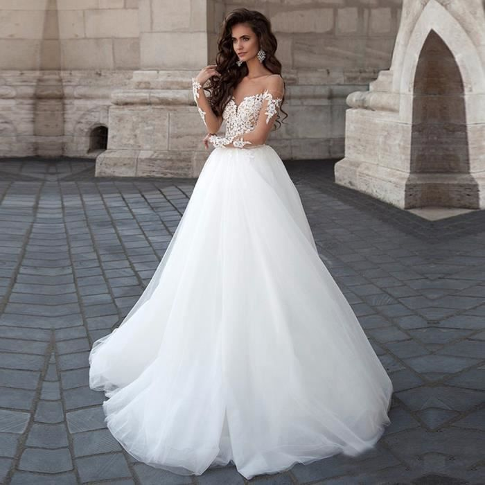 Nouveau Mariage Robe Mariée Mariage Tube Haut Dentelle Haut De Gamme Robe De Mariée Sur Mesure