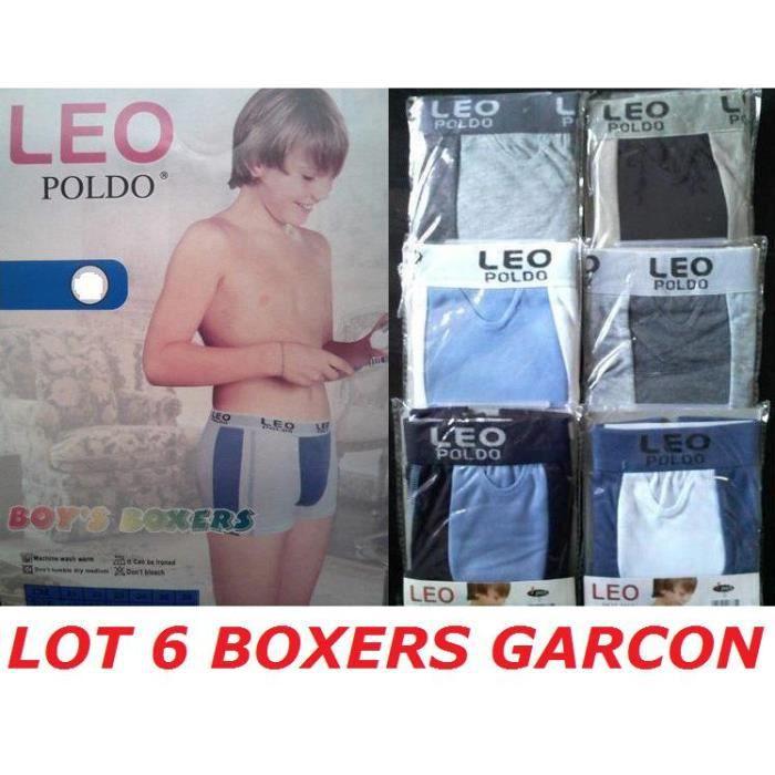 4888f5af20d5a Très Lot 6 Boxers Garçon Taille 8 / 10 ans slip enfant - Achat / Vente