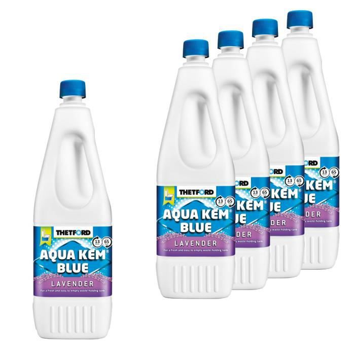5 x Aqua Kem Blue Lavender 2L Thetford liquéfiant pour toilettes chimiques wc portable