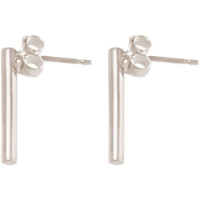 Gemshine - Dames - Boucles doreilles - Puces - Filigrane - Minimaliste - géométriques - Design - 925 - 1,5 cm