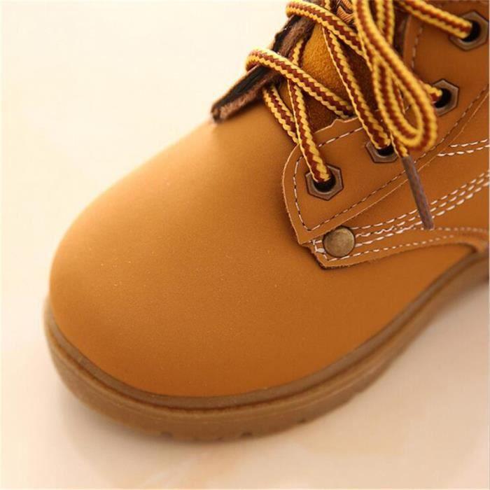 BotteEnfants Hiver Mode Confortable Classique Warm Martin Boy Girl Chaussures En Peluche Occasionnelles ZX-x072jaune-30