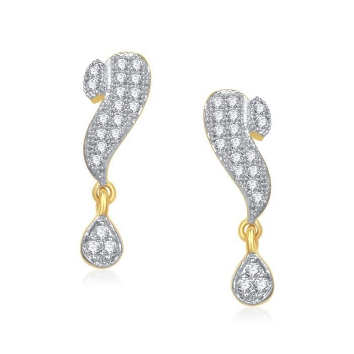 Womens galsutra Pendant Set With Earrings For Jewellery Set Gold Plated In Cz American Diamond Ms A8C6P