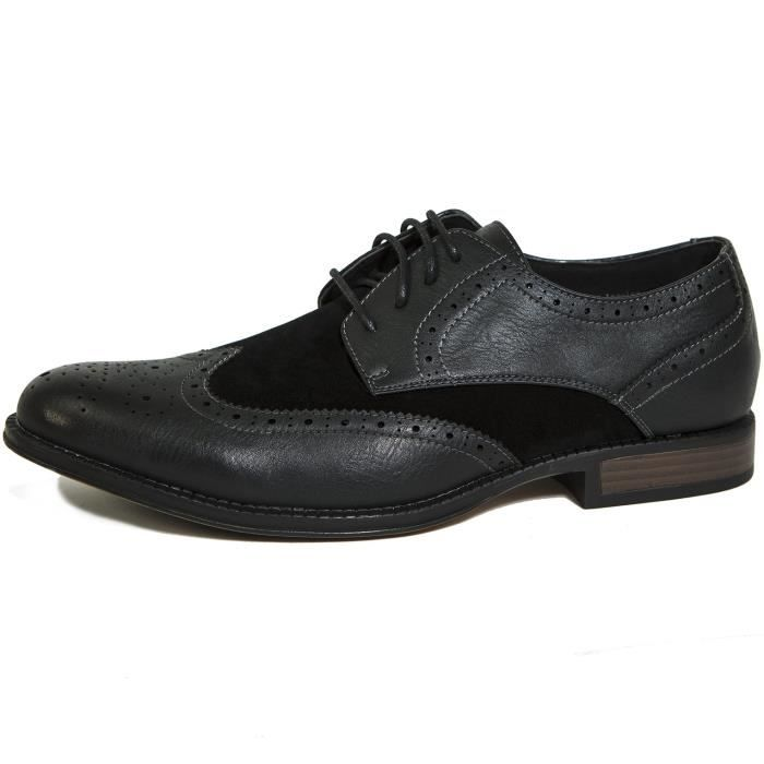 Zurich Wing Tip Oxfords Two-tone Brogue Medallion QE8JI Taille-47