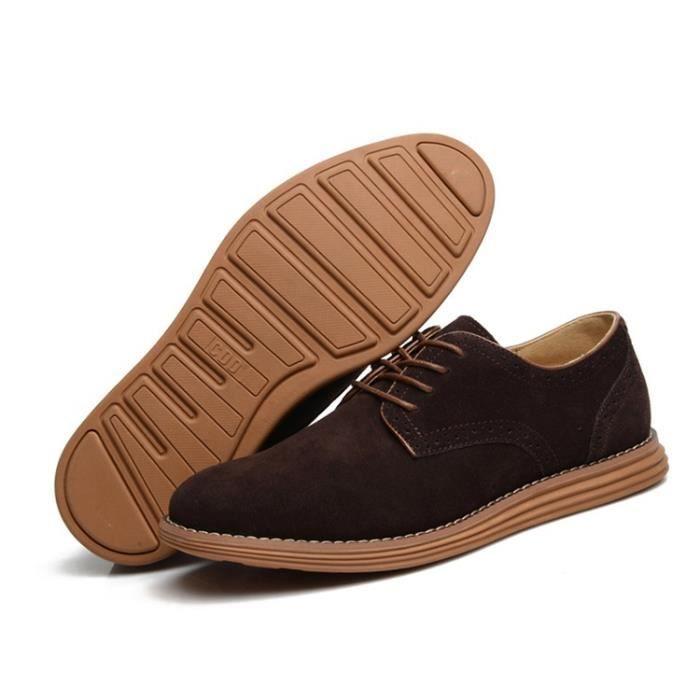 Oxford Flats en cuir décontractée Mode homme Mocassins en cuir pour homme,gris,9.5,6574_6574