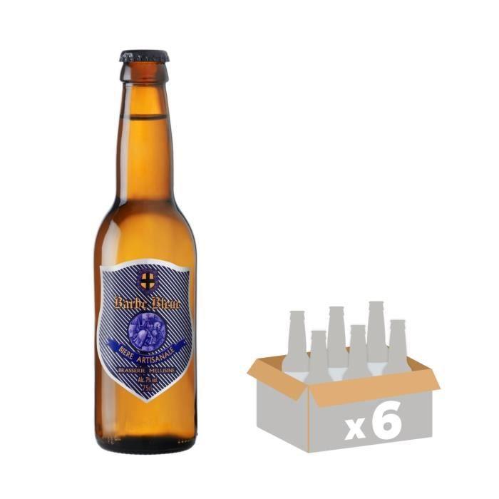 MELUSINE Barbe Bleue - Bière Brune - 33 cl x6 - 7 % - Fabriquée en FranceBIERE