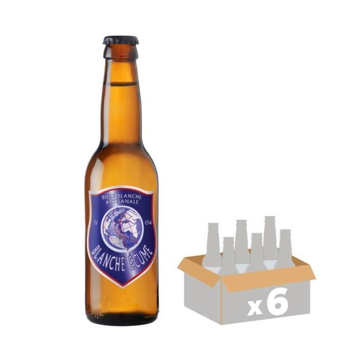 MELUSINE Blanche Ecume - Bière Blanche - 33 cl x6 - 4,2 % - Fabriquée en FranceBIERE