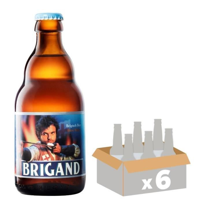 BRASSERIE VAN HONSEBROUCK - BRIGAND 1798 Bière Ambrée - 6x 33 cl - 9 %